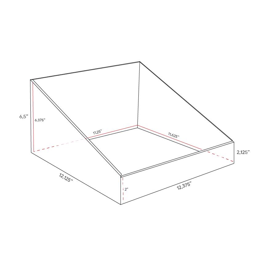 Square Cardboard counter display - dimensions