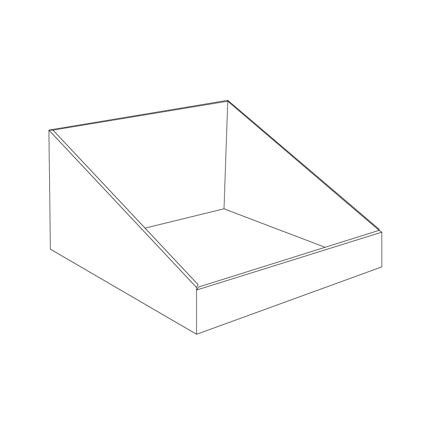Square Cardboard counter display - Outline