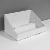 Présentoir de comptoir en carton avec 2 étages/tablettes - blanc