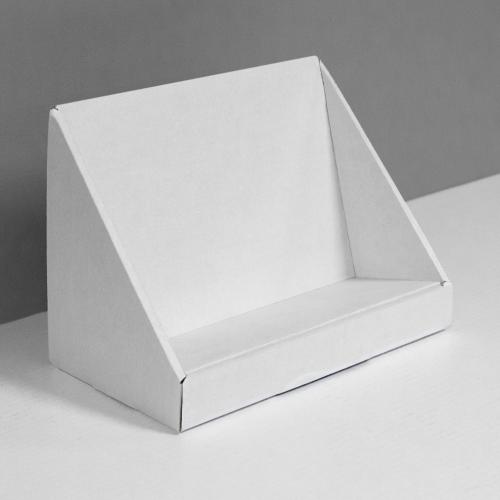 Angled Cardboard counter display - white