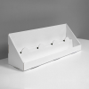 Large Cardboard counter display with 2 steps/shelves - white