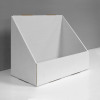 Cardboard counter display with high front - white
