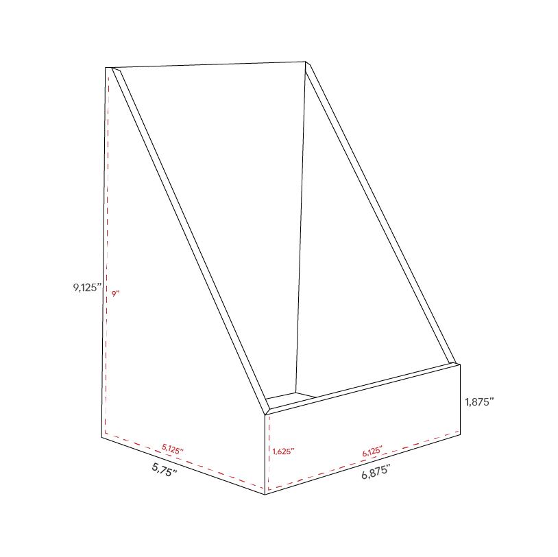 High Cardboard counter display - dimensions