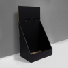 High Cardboard counter display with 2 pegs on the top/header - black