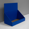 Cardboard counter display with header - blue