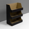 Cardboard counter display with 3 shelves - black