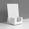 Small Cardboard counter display for business cards - white