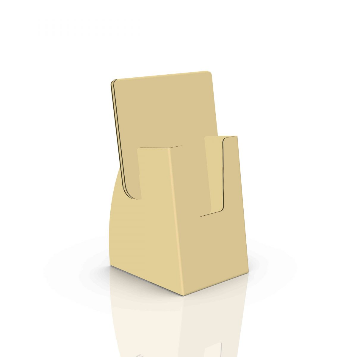 Small Cardboard counter display with header for cards or pamphlet - 3d kraft