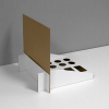 Cardboard counter displays with slots/inserts - white