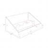 Cardboard counter displays with 2 levels - dimensions
