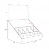 Cardboard counter displays with header and slots/inserts - dimensions