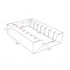 Cardboard Tray 83 for voucher cards with 7 slots - dimensions - Corrugated