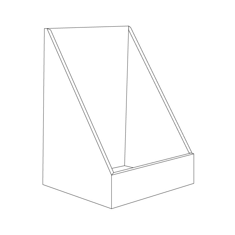 High Cardboard counter display - Outline