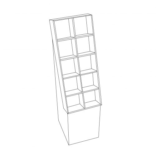 Cardboard floor displays with shelves - outline
