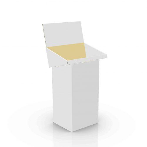 Cardboard floor displays - dump bin with header and tray - 3d