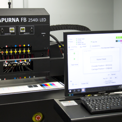 View of the anapurna printer controls