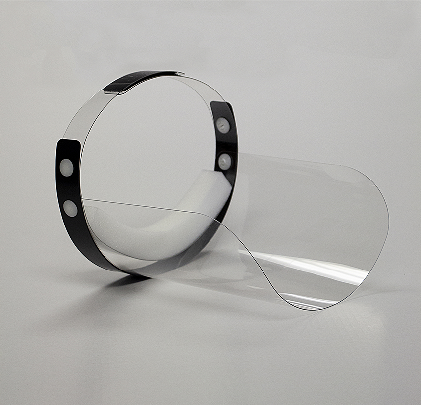 fACE SHIELD - INSIDE VIEW