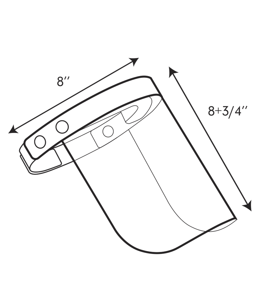 FACE SHIELD - SIDE VIEW - outline