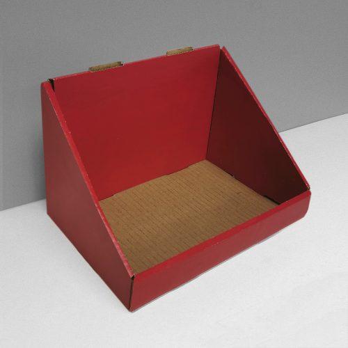 Cardboard counter display - red