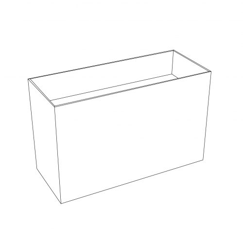 Cardboard half pallet display - outline