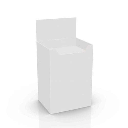 Cardboard floor display - dump bin - 3d