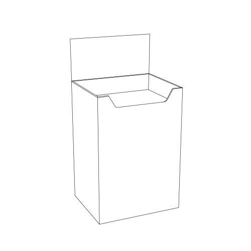 Cardboard floor display - dump bin - outline