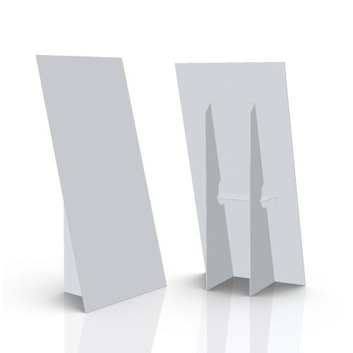 coroplast floor display - easel - 3d