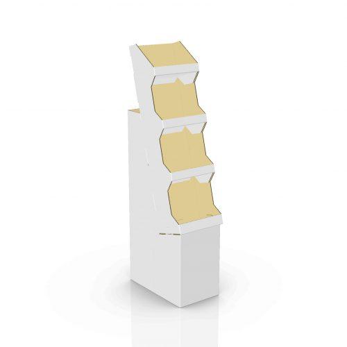 Cardboard floor displays with shelves - 3d