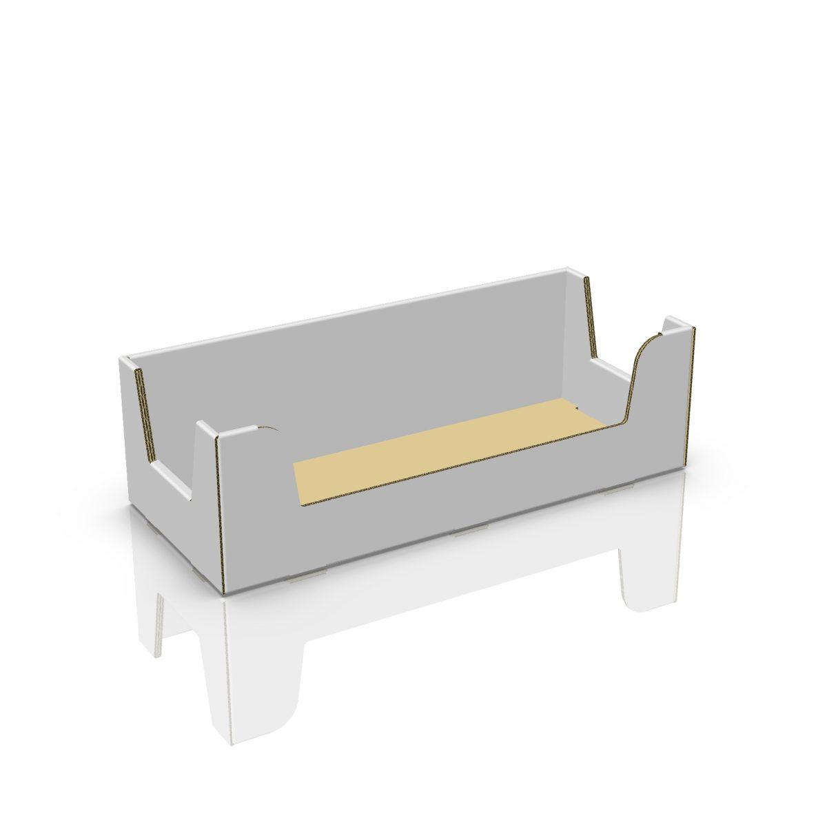 Cardboard counter display, rectangle box - 3d